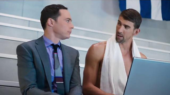 Intel TV Spot, 'The Pool' Featuring Michael Phelps, Jim Parsons - 2157 commercial airings