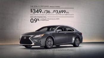 2016 Lexus ES 350 TV Spot, 'You-Time' - Thumbnail 7