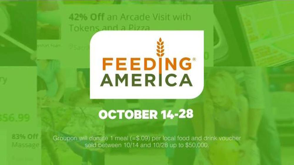 Groupon TV Commercial, 'Feeding America'