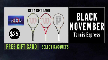 Tennis Express Black November Sale TV Spot, 'Black Friday is Back' - Thumbnail 3