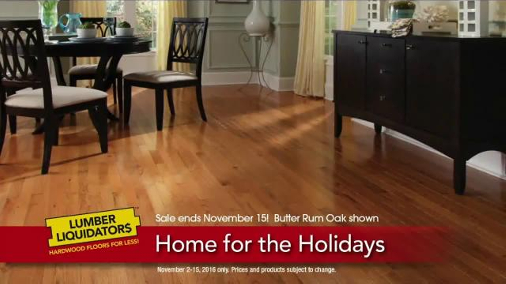 Lumber Liquidators Home for the Holidays TV Commercial, 'Beautiful Flooring'
