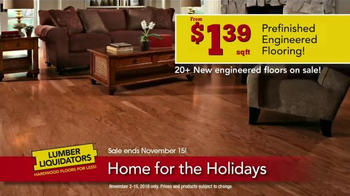 Lumber Liquidators Home for the Holidays TV Spot, 'Beautiful Flooring' - Thumbnail 4