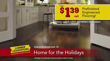Lumber Liquidators Home for the Holidays TV Spot, 'Beautiful Flooring' - Thumbnail 5