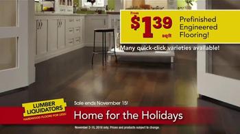 Lumber Liquidators Home for the Holidays TV Spot, 'Beautiful Flooring' - Thumbnail 5