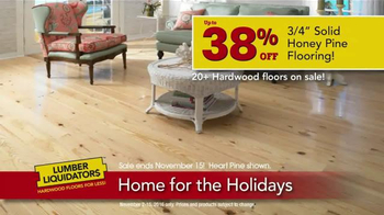 Lumber Liquidators Home for the Holidays TV Spot, 'Beautiful Flooring' - Thumbnail 6