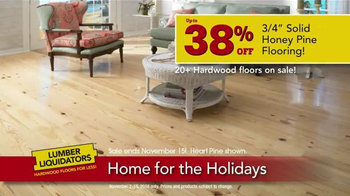 Lumber Liquidators Home for the Holidays TV Spot, 'Beautiful Flooring' - Thumbnail 7