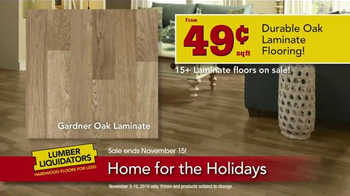 Lumber Liquidators Home for the Holidays TV Spot, 'Beautiful Flooring' - Thumbnail 8