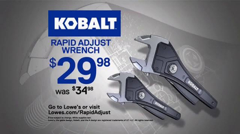 Kobalt Rapid Adjust Wrench TV Spot, 'Innovation' - Thumbnail 10