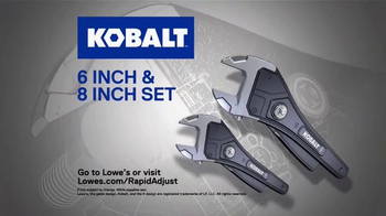 Kobalt Rapid Adjust Wrench TV Spot, 'Innovation' - Thumbnail 9