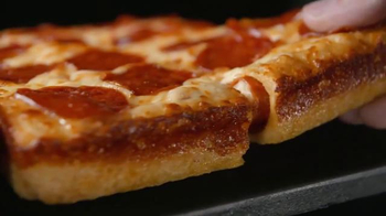 Little Caesars Pepperoni & Cheese Stuffed Crust Pizza TV Spot, 'Rewind' - Thumbnail 4