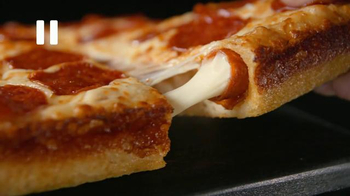 Little Caesars Pepperoni & Cheese Stuffed Crust Pizza TV Spot, 'Rewind' - Thumbnail 7
