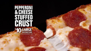 Little Caesars Pepperoni & Cheese Stuffed Crust Pizza TV Spot, 'Rewind' - Thumbnail 8