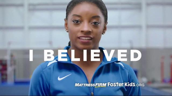 Mattress Firm Foster Kids Toy Drive TV Spot, 'I Believe' Feat. Simone Biles - 179 commercial airings