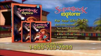 CBN Superbook DVD Club TV Spot, 'Explorer Volume Five'