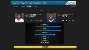 SAP Player Comparison Tool TV Spot, 'Top Receiver' - Thumbnail 7