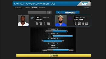 SAP Player Comparison Tool TV Spot, 'Top Receiver' - Thumbnail 6