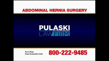 Pulaski Law Firm TV Spot, 'Abdominal Hernia Surgery' - Thumbnail 1