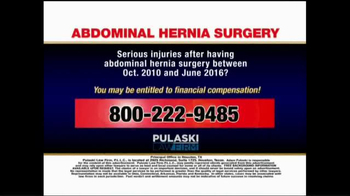 Pulaski Law Firm TV Spot, 'Abdominal Hernia Surgery' - Thumbnail 5