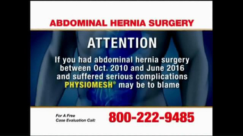 Pulaski Law Firm TV Spot, 'Abdominal Hernia Surgery'