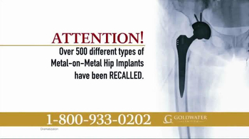 Goldwater Law Firm TV Spot, 'Over 500 Types of Hip Implants' - Thumbnail 2