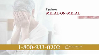 Goldwater Law Firm TV Spot, 'Over 500 Types of Hip Implants' - Thumbnail 3