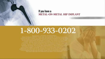 Goldwater Law Firm TV Spot, 'Over 500 Types of Hip Implants' - Thumbnail 7