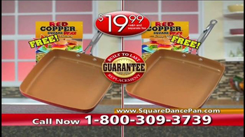 Red Copper Square Dance Pan TV Spot, 'The Solution' - Thumbnail 10