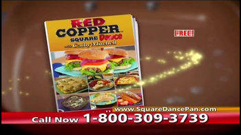 Red Copper Square Dance Pan TV Spot, 'The Solution' - Thumbnail 9