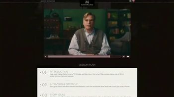 Masterclass TV Spot, 'Screenwriting' Featuring Aaron Sorkin