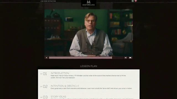 Masterclass TV Spot, \'Screenwriting\' Featuring Aaron Sorkin