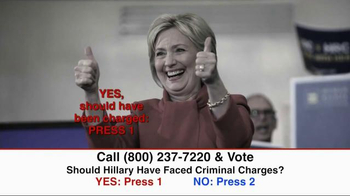 Great America PAC TV Spot, 'Clinton Criminal Charges' - Thumbnail 9