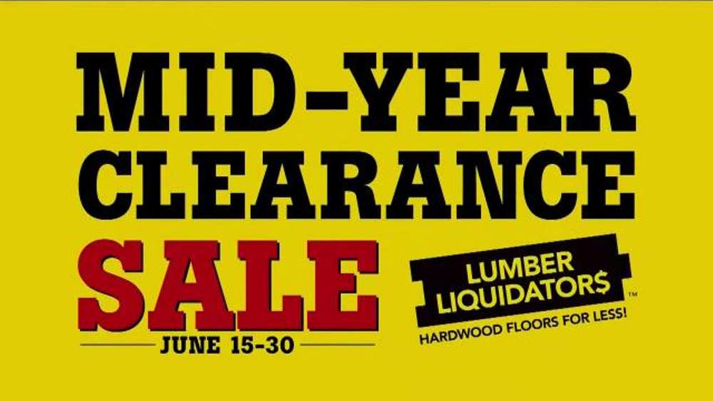 Lumber Liquidators Mid Year Clearance Sale Tv Commercial