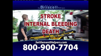 The Driscoll Firm TV Spot, 'Xarelto and Pradaxa Linked to Internal Bleeding - Thumbnail 5