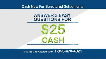 Stone Street Capital TV Spot, 'Structured Settlement: $25 Cash'