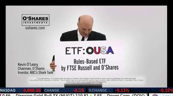 O'Shares Investments TV Spot, 'ETF: OUSA' Featuring Kevin O'Leary - Thumbnail 1