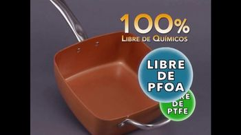 Copper Chef Square Pan TV Spot, 'Sistema de 5 piezas' [Spanish]