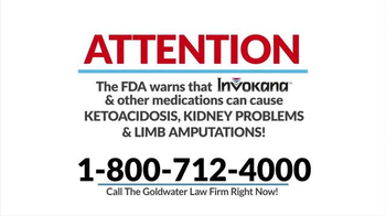 Goldwater Law Firm TV Spot, 'Diabetes Medication' - Thumbnail 1