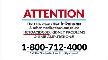 Goldwater Law Firm TV Spot, \'Diabetes Medication\'