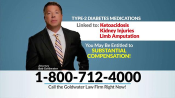 Goldwater Law Firm TV Spot, 'Diabetes Medication' - Thumbnail 6