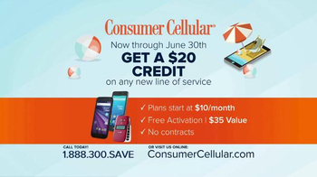 Consumer Cellular TV Spot, 'Satisfaction: Summer $20 Credit: Plans $10+ a Month' - Thumbnail 10