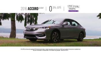 Honda One Tank Trips Sweepstakes TV Spot, 'Stormking Spa: 2016 Accord' - Thumbnail 7