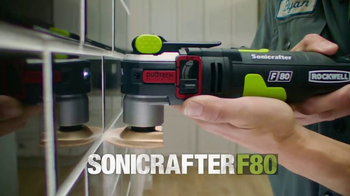 Rockwell Sonicrafter F80 TV Spot, 'Most Powerful Oscillating Multi-Tool' - Thumbnail 2