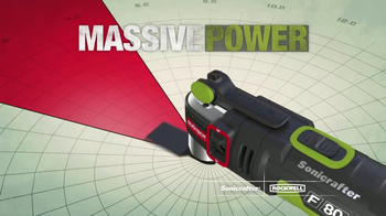 Rockwell Sonicrafter F80 TV Spot, 'Most Powerful Oscillating Multi-Tool' - Thumbnail 5