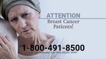 Goldwater Law Firm TV Spot, 'Chemotherapy Hair Loss' - Thumbnail 1
