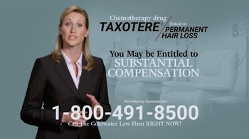 Goldwater Law Firm TV Spot, 'Chemotherapy Hair Loss' - Thumbnail 4