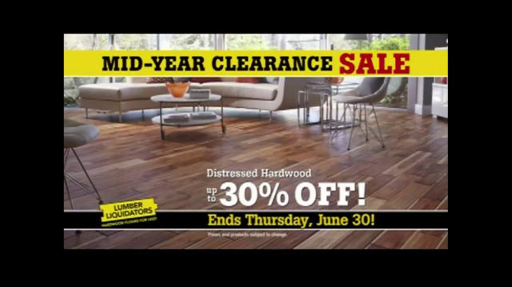 Lumber Liquidators Mid-Year Clearance Sale TV Commercial, 'Incredible Deals'