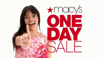 Macy's One Day Sale TV Spot, 'Save $20 With Savings Pass' - Thumbnail 1
