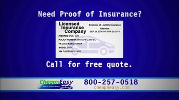 Cheap'nEasy Auto Insurance TV Spot, 'On the Spot Coverage' - Thumbnail 5
