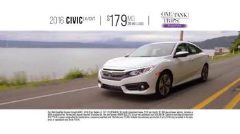Honda One Tank Trips Sweepstakes TV Spot, 'San Juan Islands: 2016 Civic' - Thumbnail 7