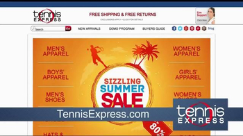Tennis Express Sizzling Summer Sale TV Spot, 'Shoes & Apparel' - Thumbnail 1